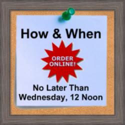 Order Online: Hattie's Garden Off-Season Delivery/Pickup Service